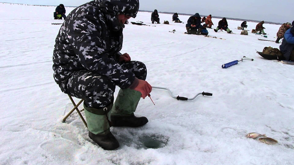 Сорожка зимняя ловля видео
